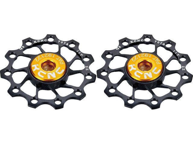 KCNC Jockey Wheel Titan 10 Dents Roulement en inox 1 Paire, black